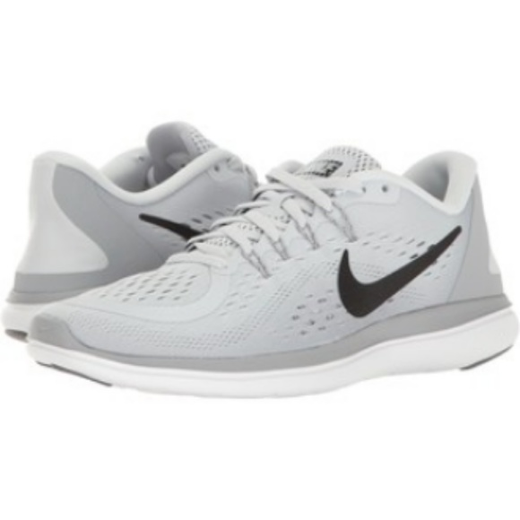 temperament shoes new arrivals wide varieties NIKE Light Grey Flex Run Women's Running Shoes